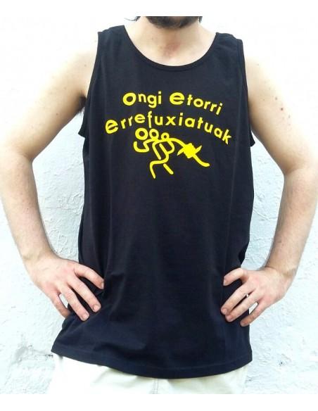 Camiseta de tirantes Ongi etorri errefuxiatuak