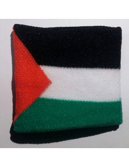 Muñequera con la bandera palestina