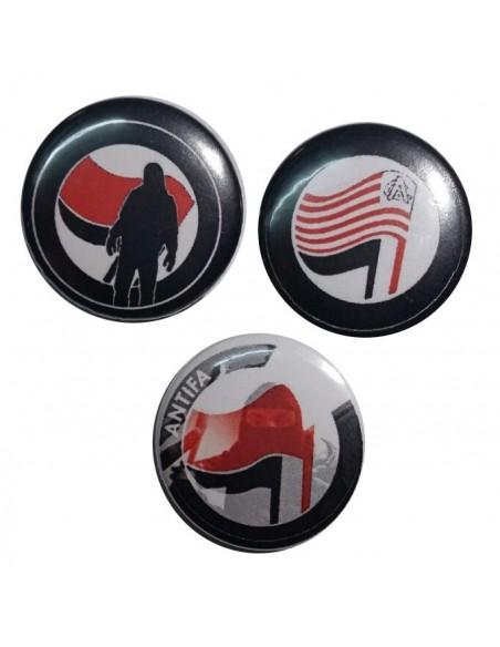 Tres chapas antifascistas 2