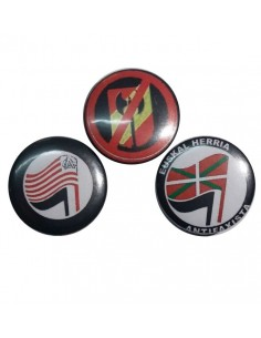 Tres chapas antifascistas 3