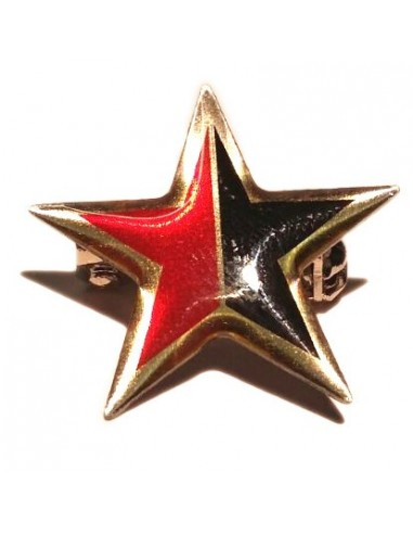Broche estrella rojinegra anarkista