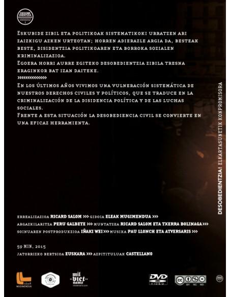 DVD Desobedientzia. Elkartasunetik konpromisora