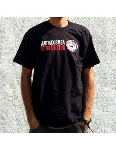 Camiseta negra Antifaxismoa ez da delitua