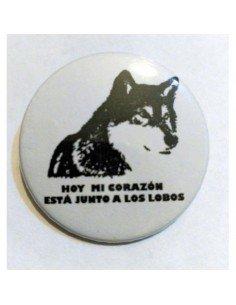 Imán Mi corazón está junto a los lobos