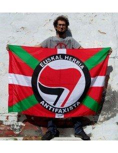 Bandera Ikurriña Euskal Herria Antifaxista