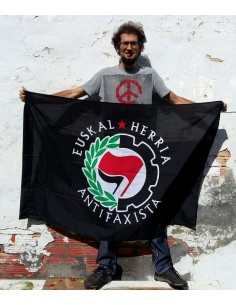 Bandera negra Euskal Herria Antifaxista