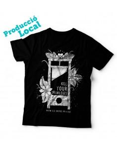 """Camiseta negra """"Kill your privileges"""""""