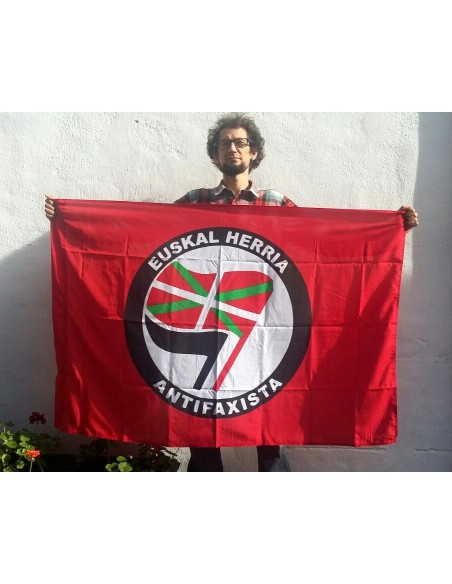 Bandera Roja Euskal Herria Antifaxista