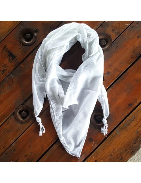 Pañuelo palestino auténtico (Kufiya) Blanco