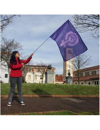 Bandera Feminista + mástil
