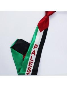 Corbata palestina con colores de la bandera palestina