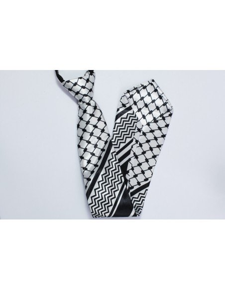 Corbata palestina con colores del kufiya
