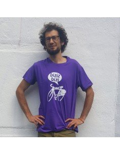 Camiseta Biziz Bizi morada