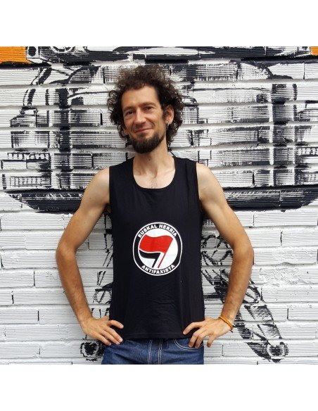 Camiseta de tirantes Euskal Herria Antifaxista (logo grande)