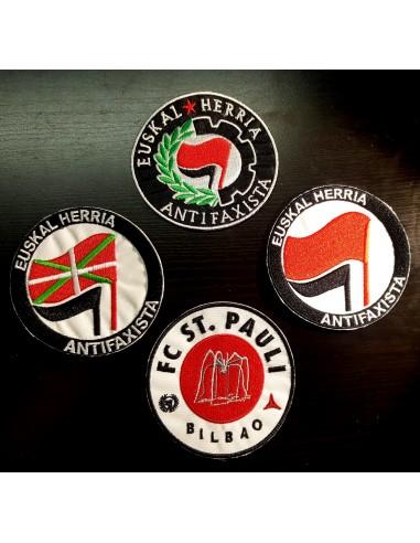 Lote de 4 parches antifascistas