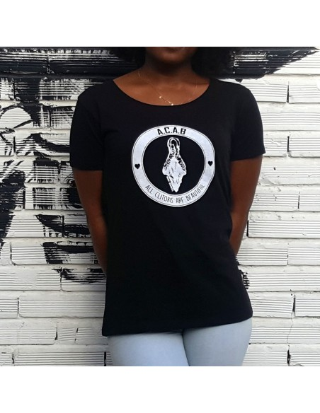 Camiseta All Clitoris Are Beautiful (ACAB) en algodón orgánico