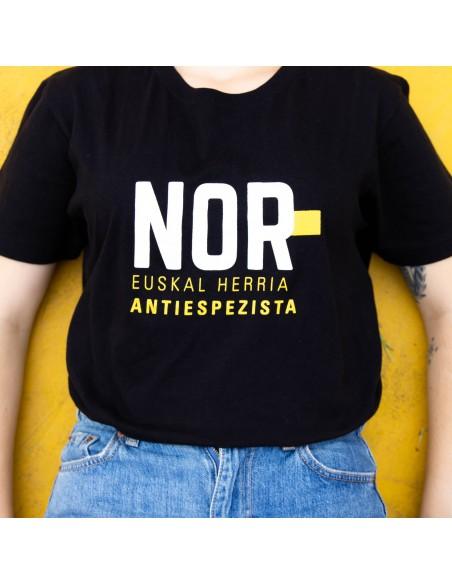 """Kamiseta """"NOR Euskal Herria Antiespezista"""""""
