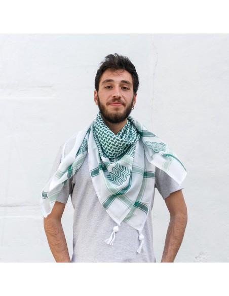 Pañuelo palestino auténtico (Kufiya) Verde Thoub