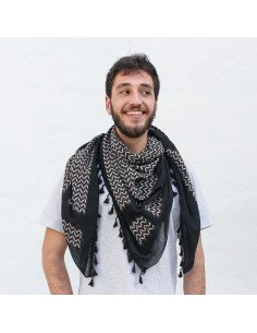 Pañuelo palestino auténtico (Kufiya) Fadwa Touqan