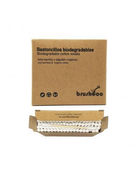 Bastoncillos biodegradables de bambú