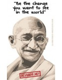 """Pegatina Gandhi: """"Be the change you want to see"""""""