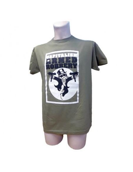 Camiseta capitalism is armed robbery