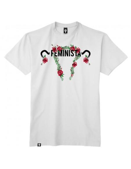 Camiseta Feminista floral