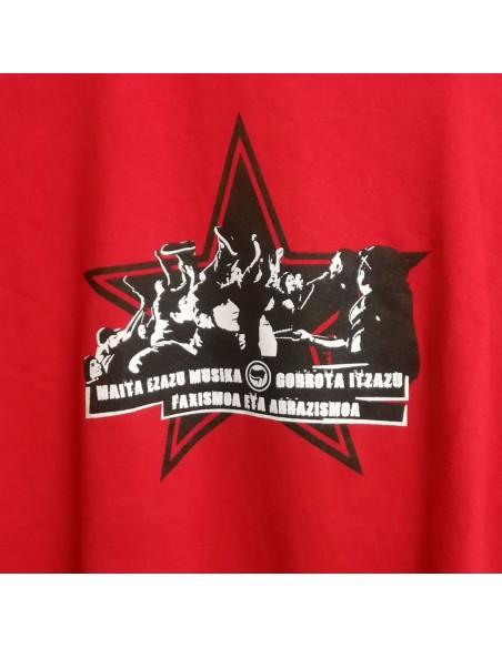Camiseta musica antifascista