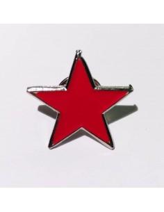 Broche estrella roja socialista