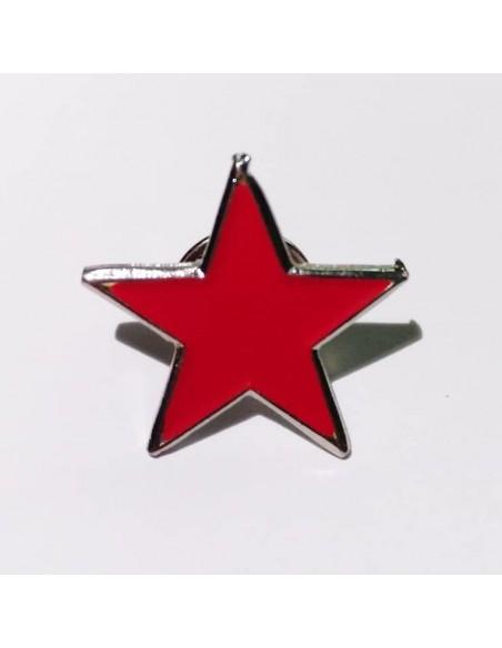 Pin estrella roja socialista