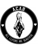 Pegatina All Clitoris Are Beautiful (A.C.A.B.)