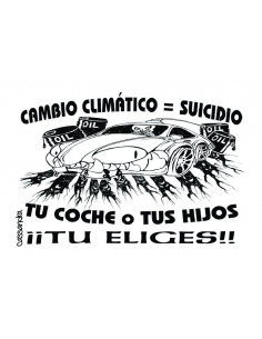 Pegatina Cambio Climático igual a suicidio