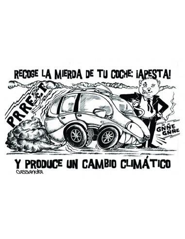 Pegatina Tu coche apesta