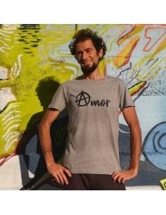 Camiseta Amor con la A anarquista circulada