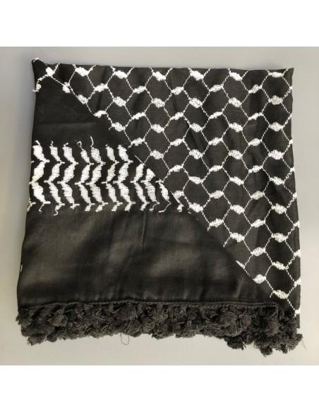 Pañuelo palestino autentico (Kufiyya) - negro