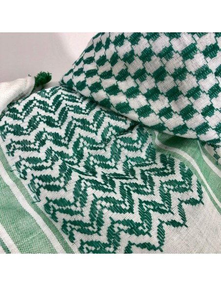 "Pañuelo palestino auténtico (Kufiya) Verde ""Thoub"""