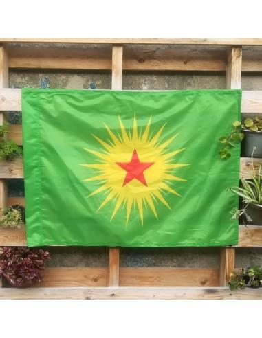 Bandera KCK (Confederación de los pueblos de Kurdistán)
