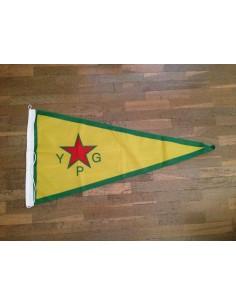 Bandera YPG (Unidades de Protección Popular) del pueblo kurdo
