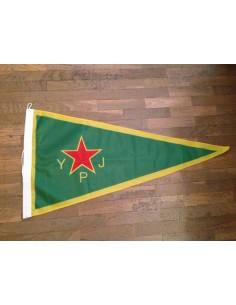 Bandera YPJ (Unidades Femeninas de Protección) del pueblo kurdo