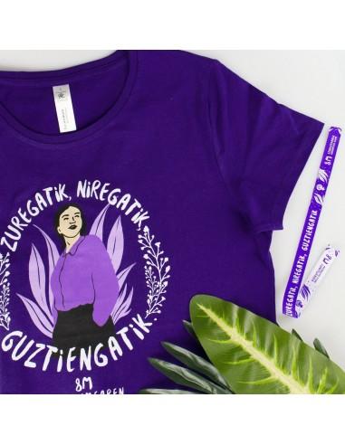"""Camiseta 8M 2021 """"Zuregatik, niregatik, guztiengatik"""""""