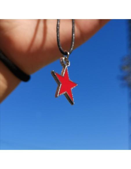 Colgante estrella roja