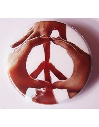 Chapa Paz y Amor (con manos)