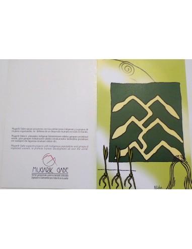 Postal dibujos indígenas
