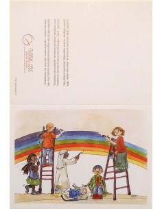 Postal arcoíris para navidad comprometida