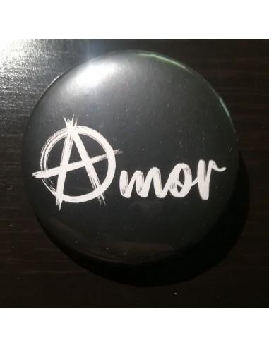 Chapa Amor con la A anarquista