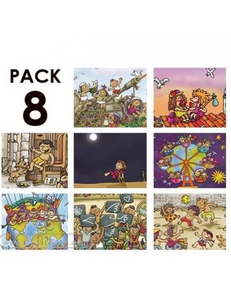 8 Postales Niñas y niños del mundo