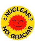 Pegatina ¿Nuclear? No, gracias