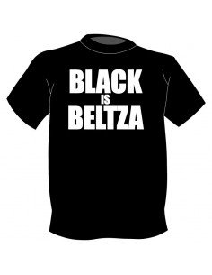 Camiseta Black is Beltza en letras