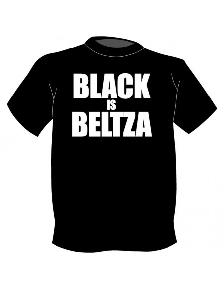 Camiseta Black is Beltza en letras