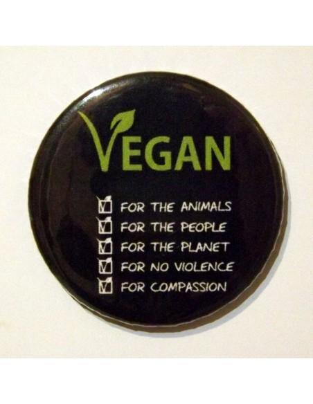 Chapa Vegan for 5 razones
